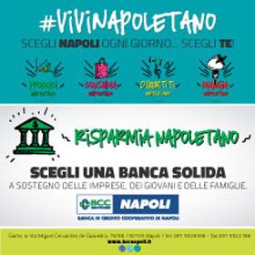 Banner pubblicitario:  Banca di Credito Cooperativo di Napoli